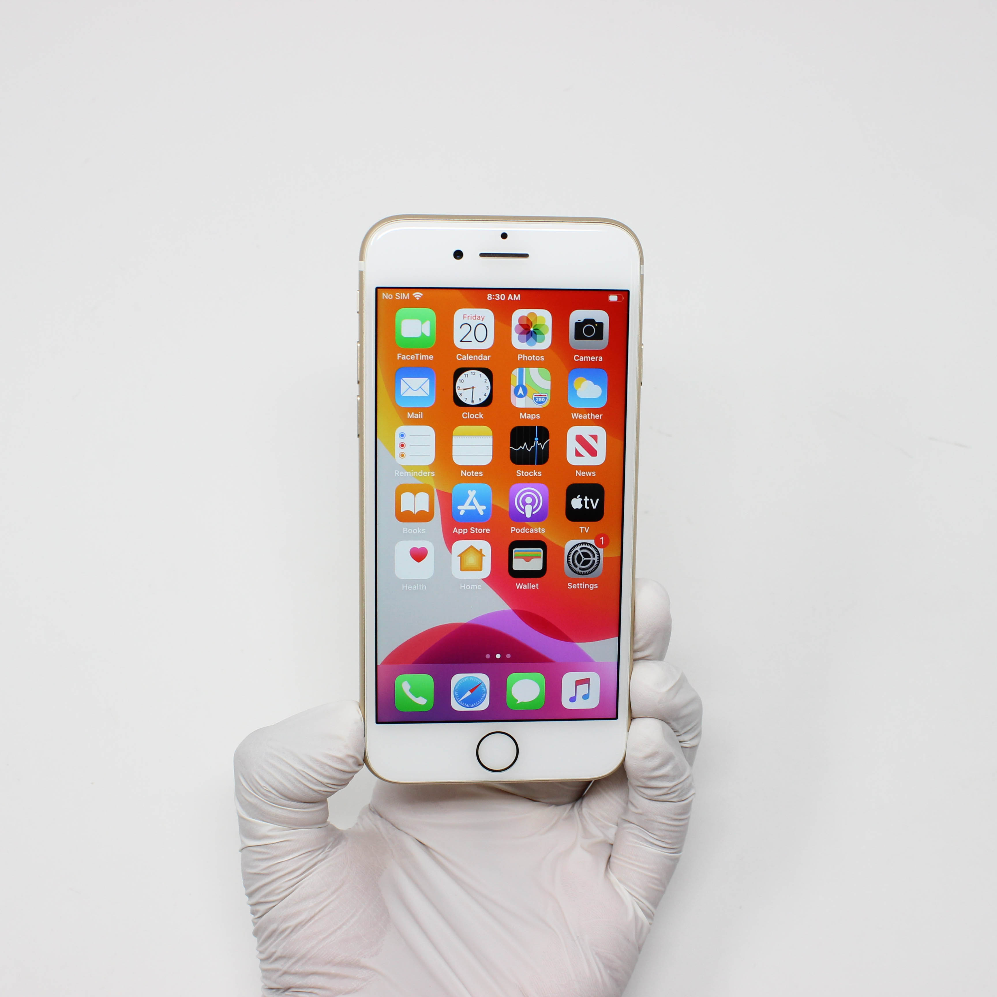 iPhone 7 128GB Black - AT&T front display on | UpTradeit.com
