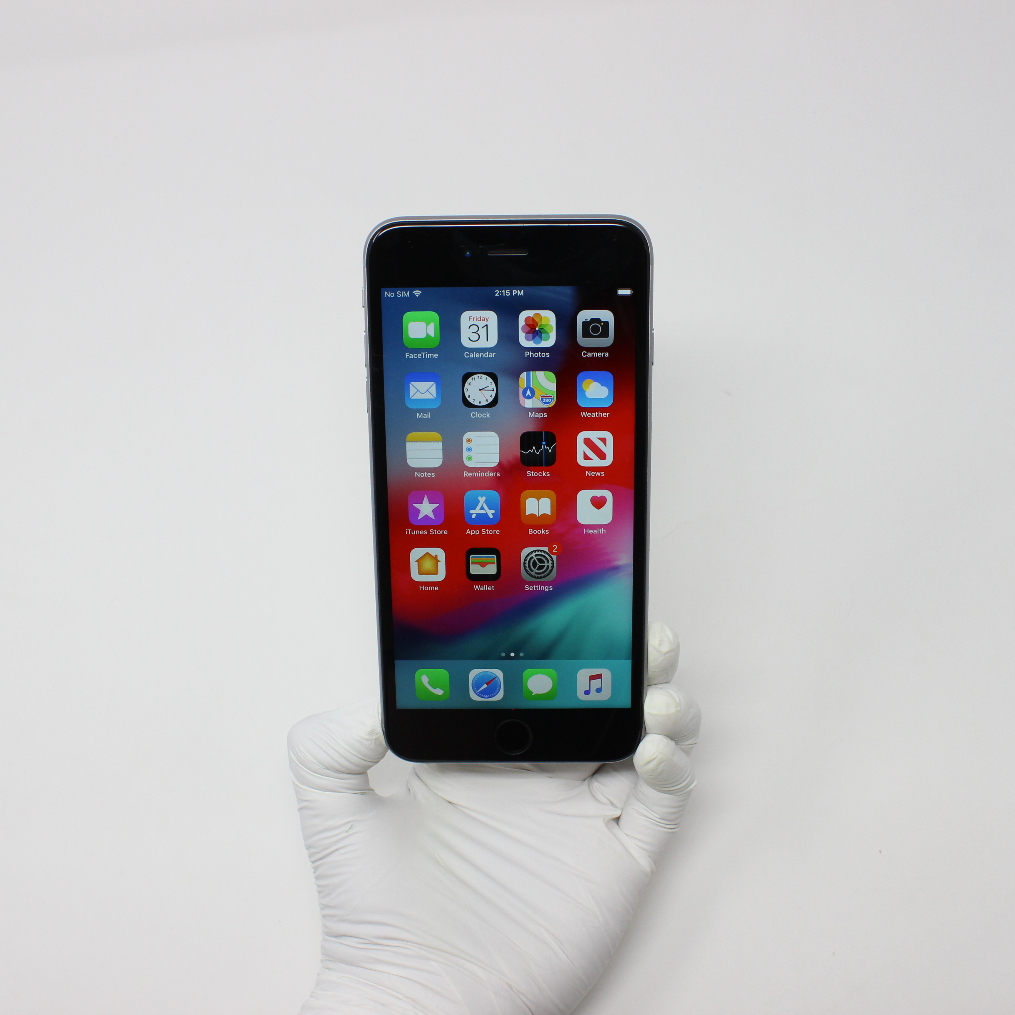 iPhone 6 Plus 64GB Space Gray - AT&T front display on | UpTradeit.com
