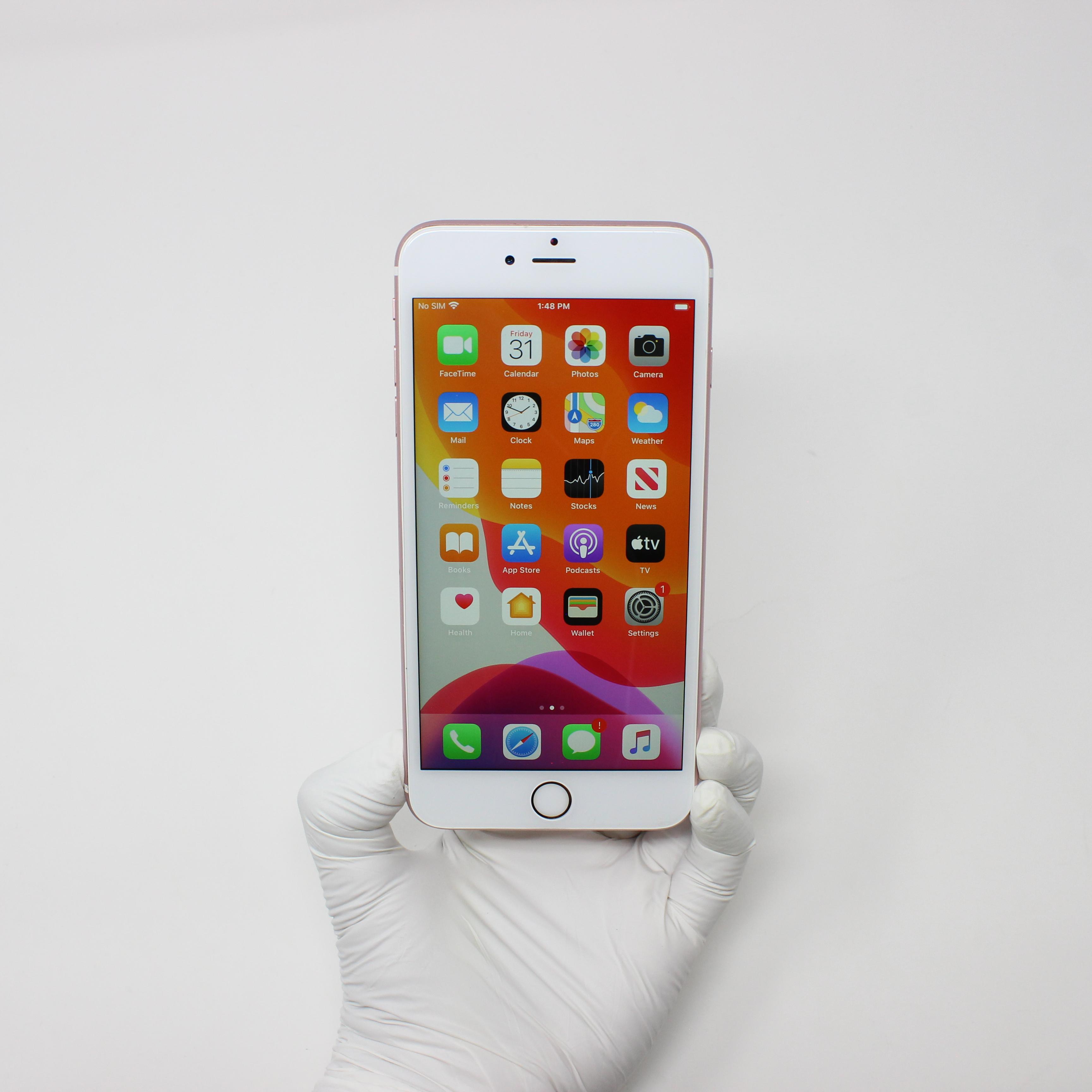 iPhone 6S Plus 16GB Rose Gold - Unlocked front display on | UpTradeit.com