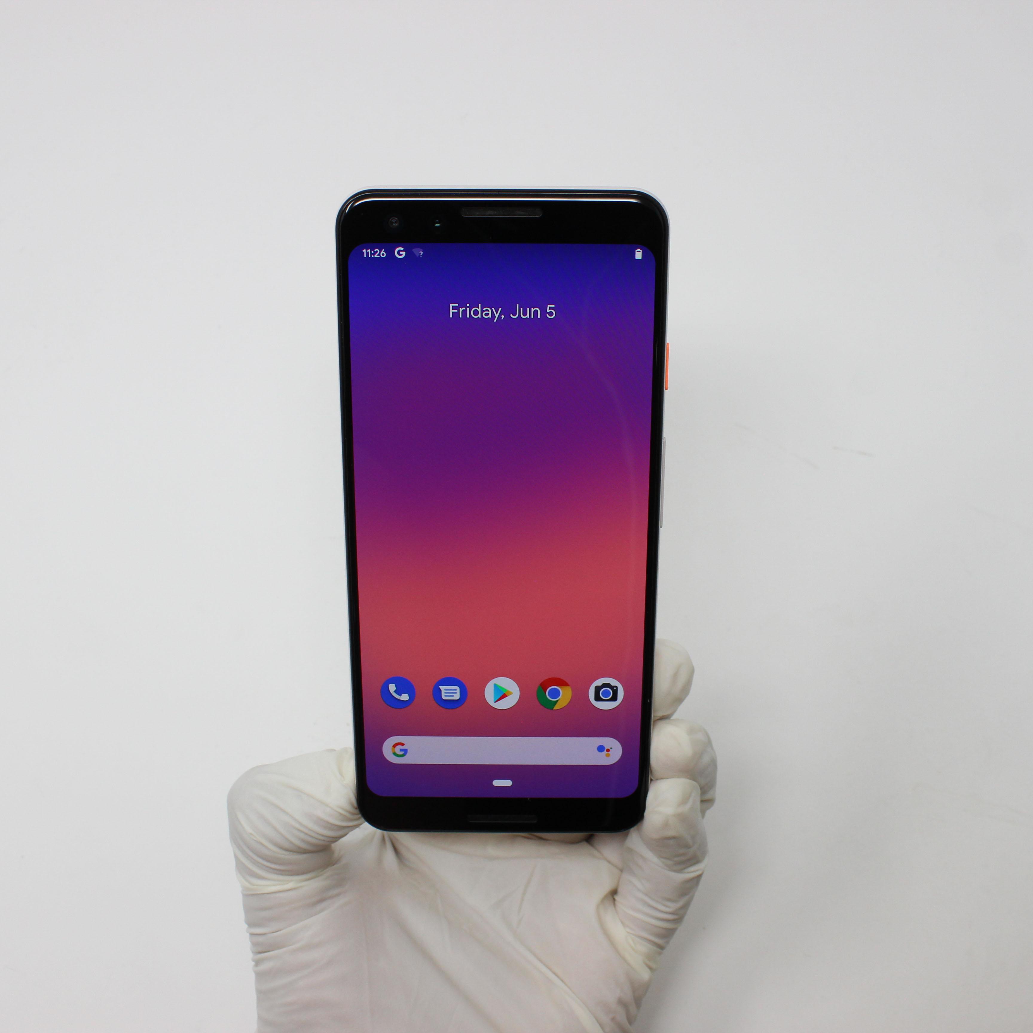 Google Pixel 3 64GB Not Pink - Verizon front display on | UpTradeit.com
