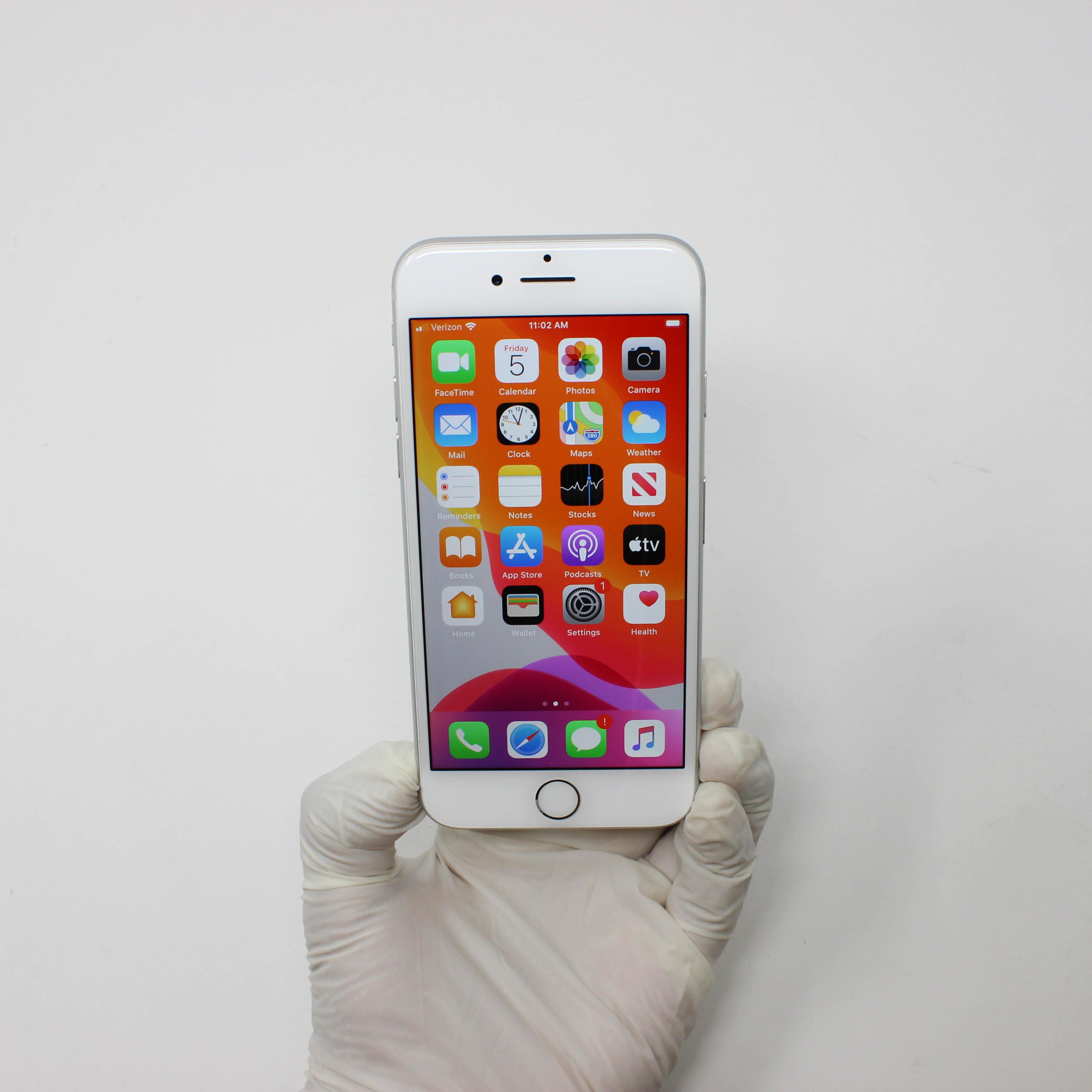 iPhone 7 32GB Silver - Verizon front display on | UpTradeit.com