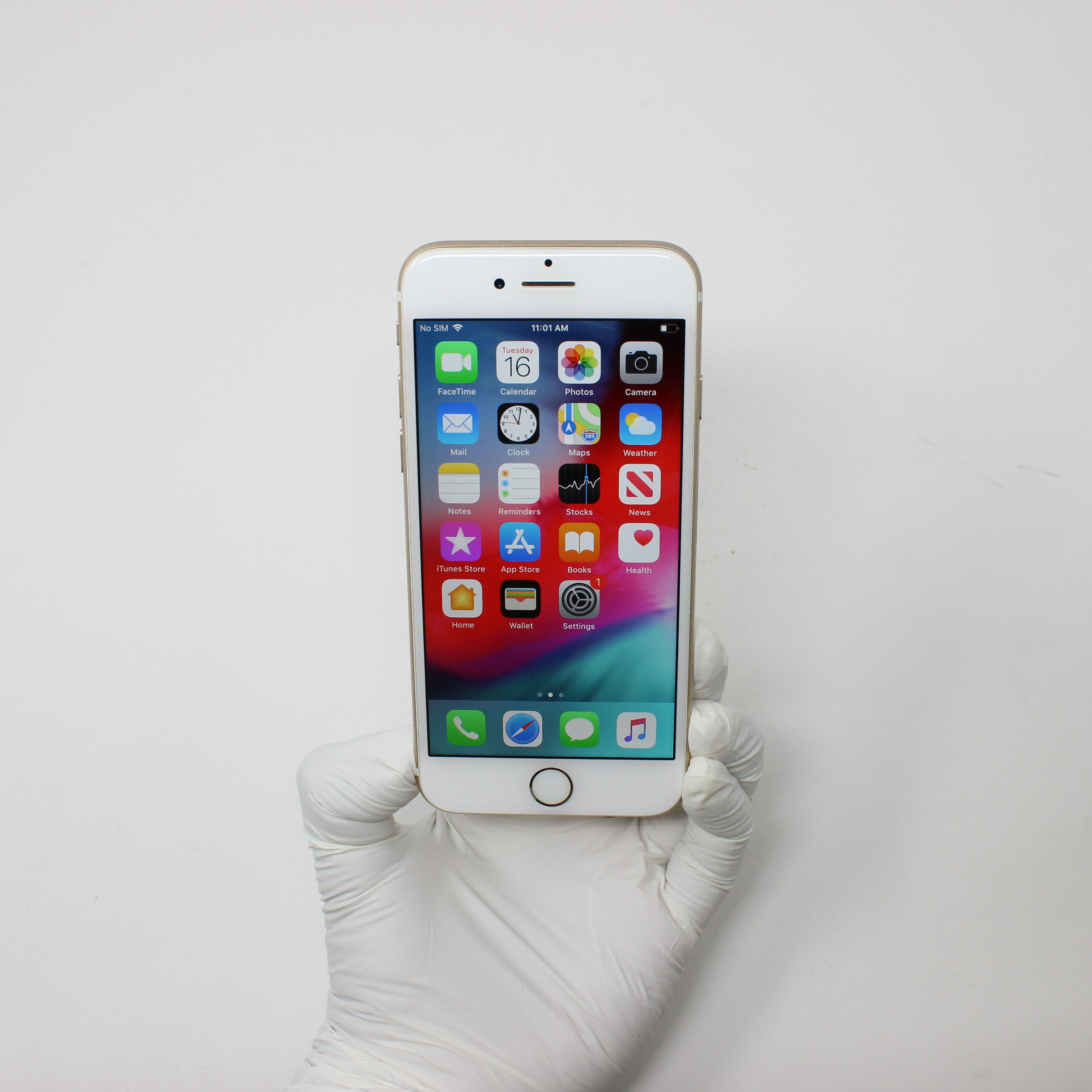 iPhone 7 32GB Gold - AT&T front display on | UpTradeit.com