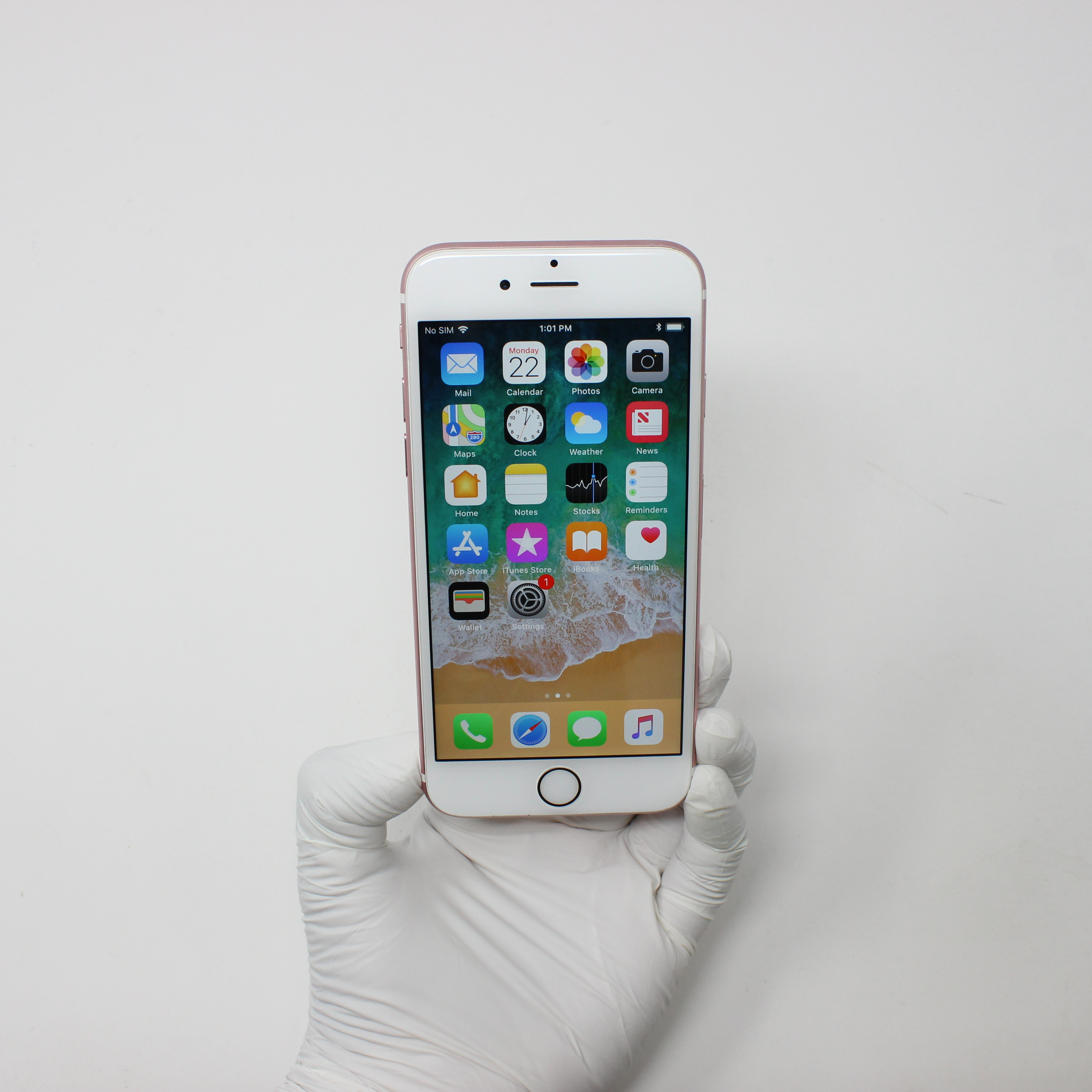 iPhone 6S 16GB Rose Gold - Verizon front display on | UpTradeit.com