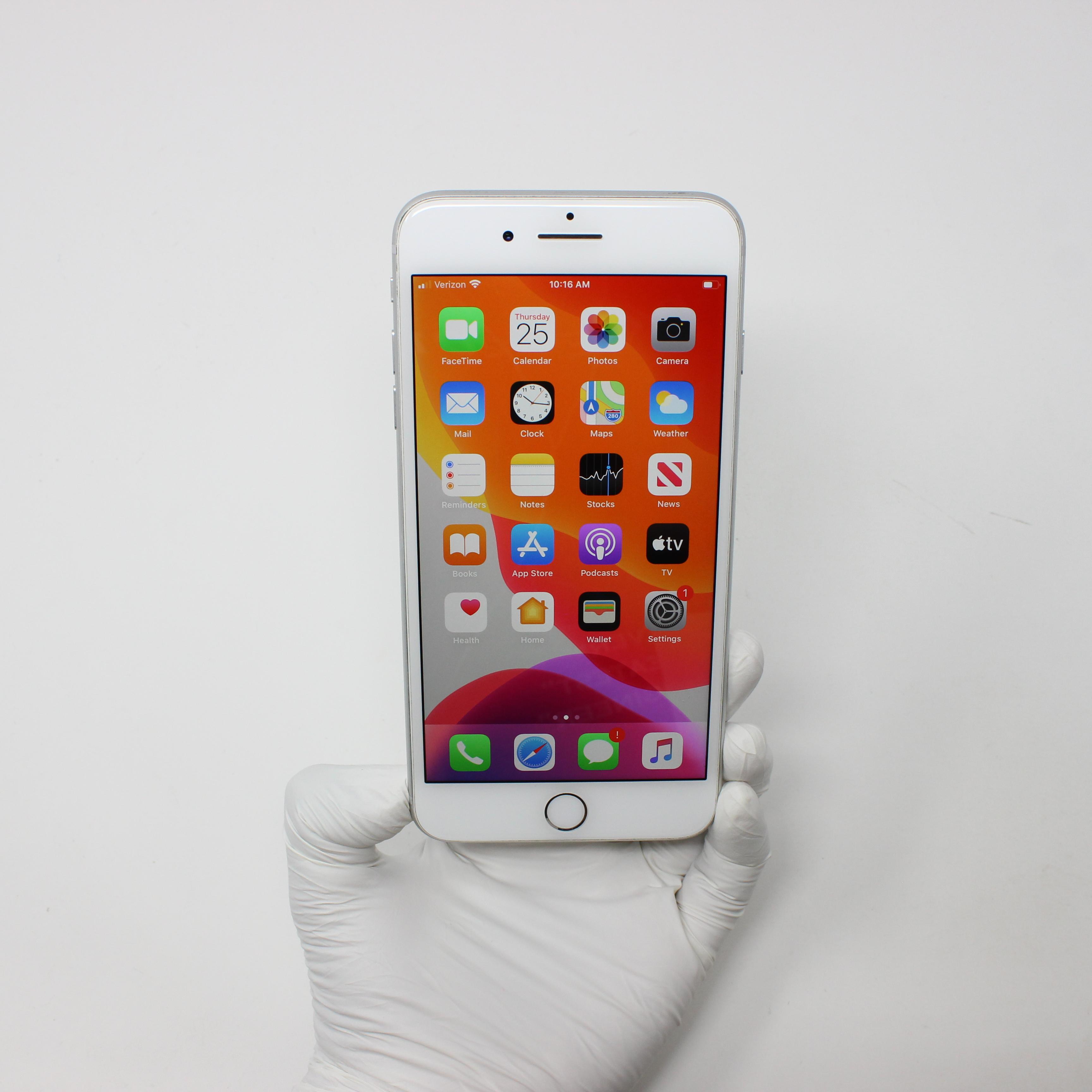 iPhone 8 Plus 64GB Silver - Verizon front display on   UpTradeit.com