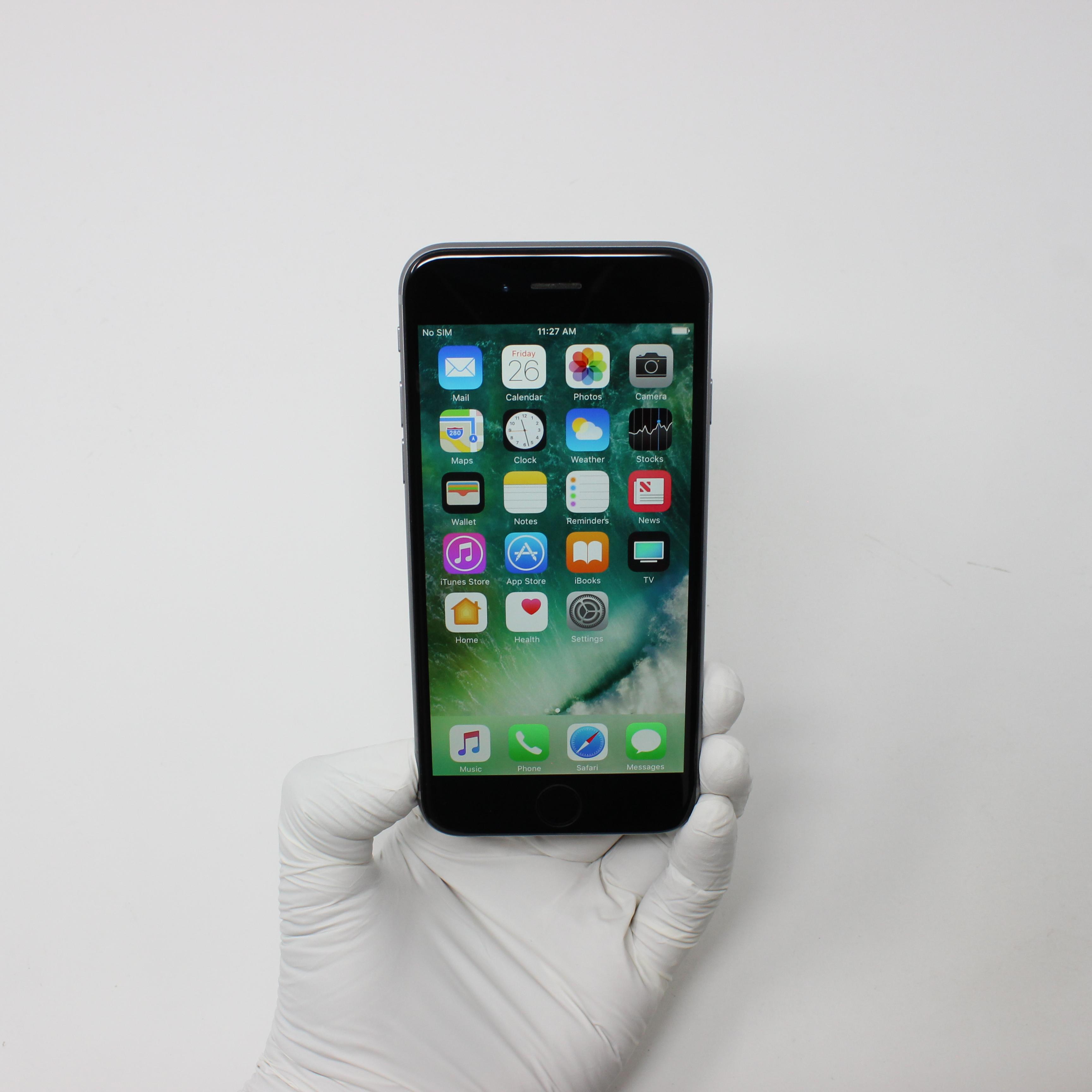 iPhone 6 64GB Space Gray - Verizon front display on | UpTradeit.com