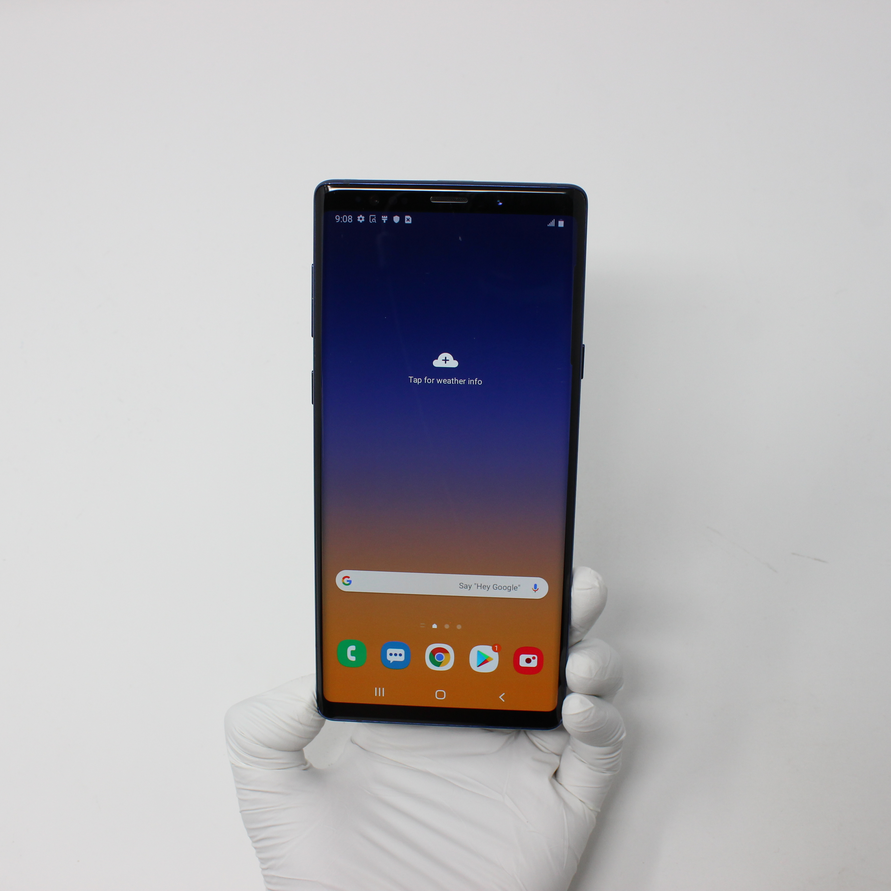 Galaxy Note 9 128GB Ocean Blue - T-Mobile front display on | UpTradeit.com