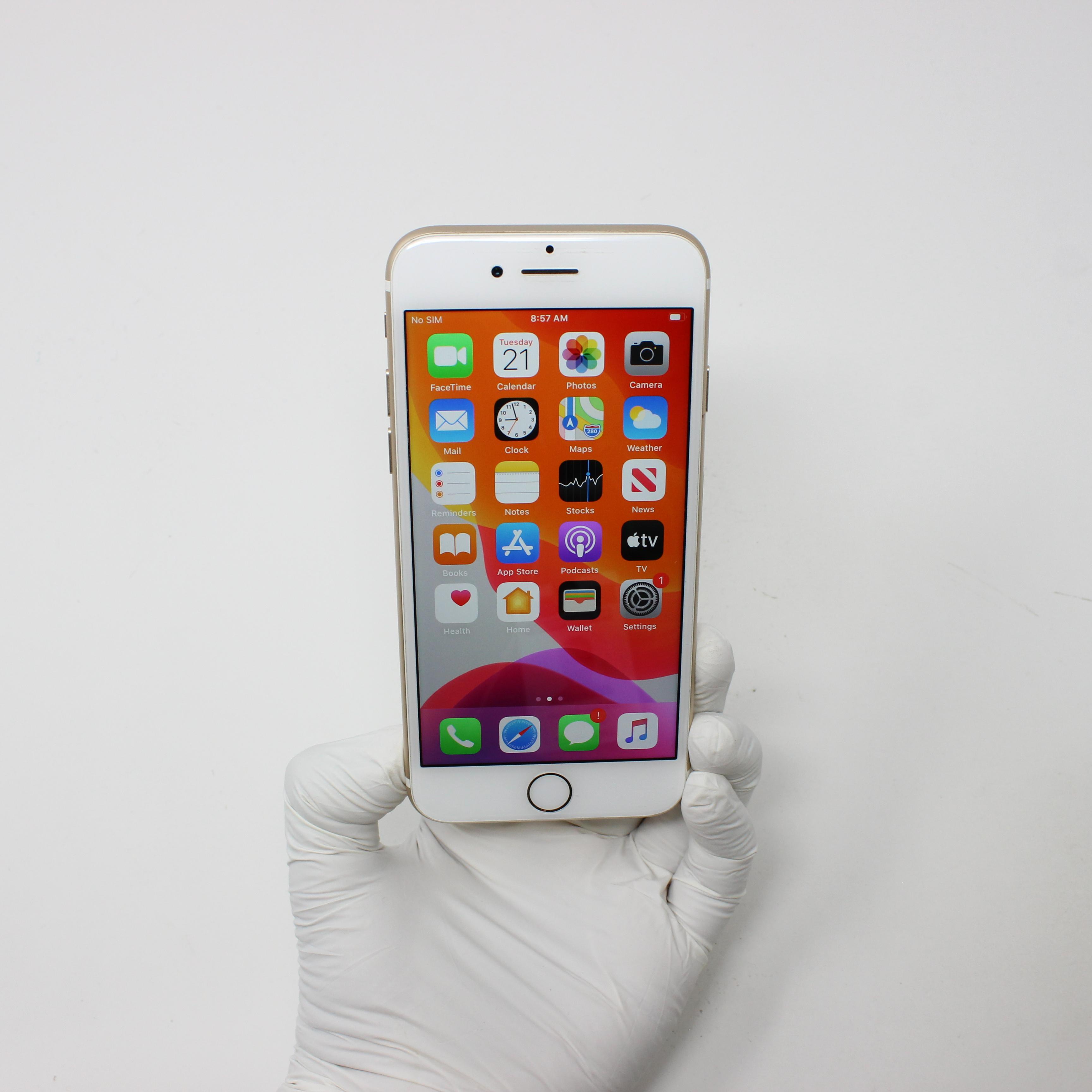 iPhone 7 32GB Gold - Unlocked front display on | UpTradeit.com