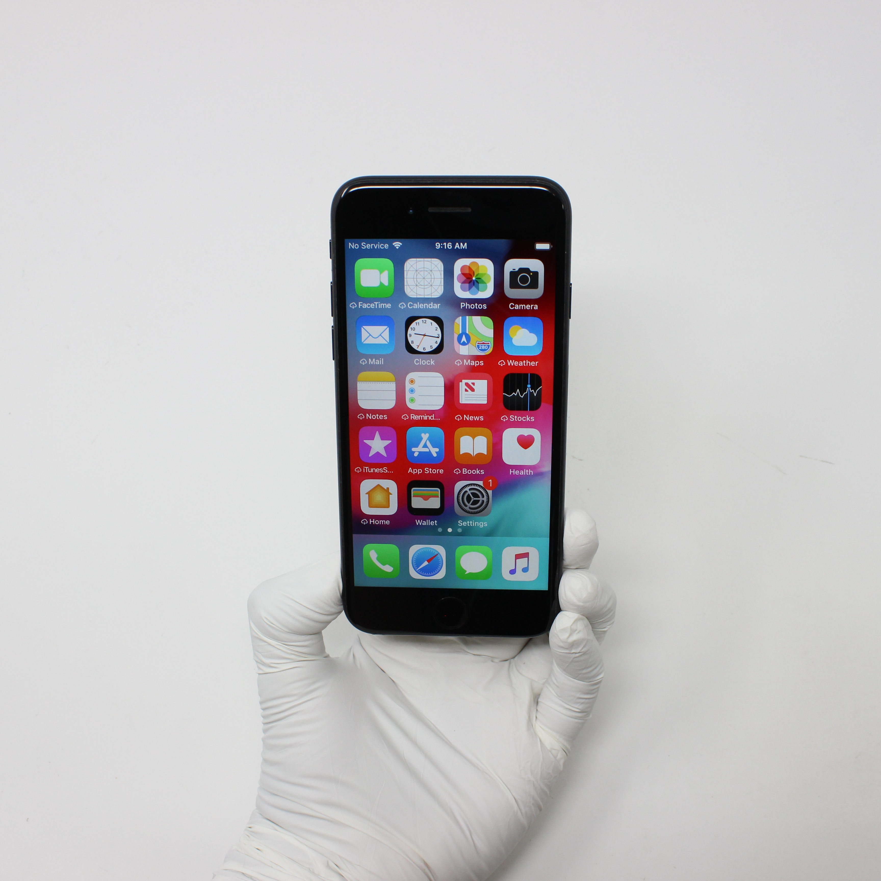 iPhone 7 256GB Black - AT&T front display on | UpTradeit.com