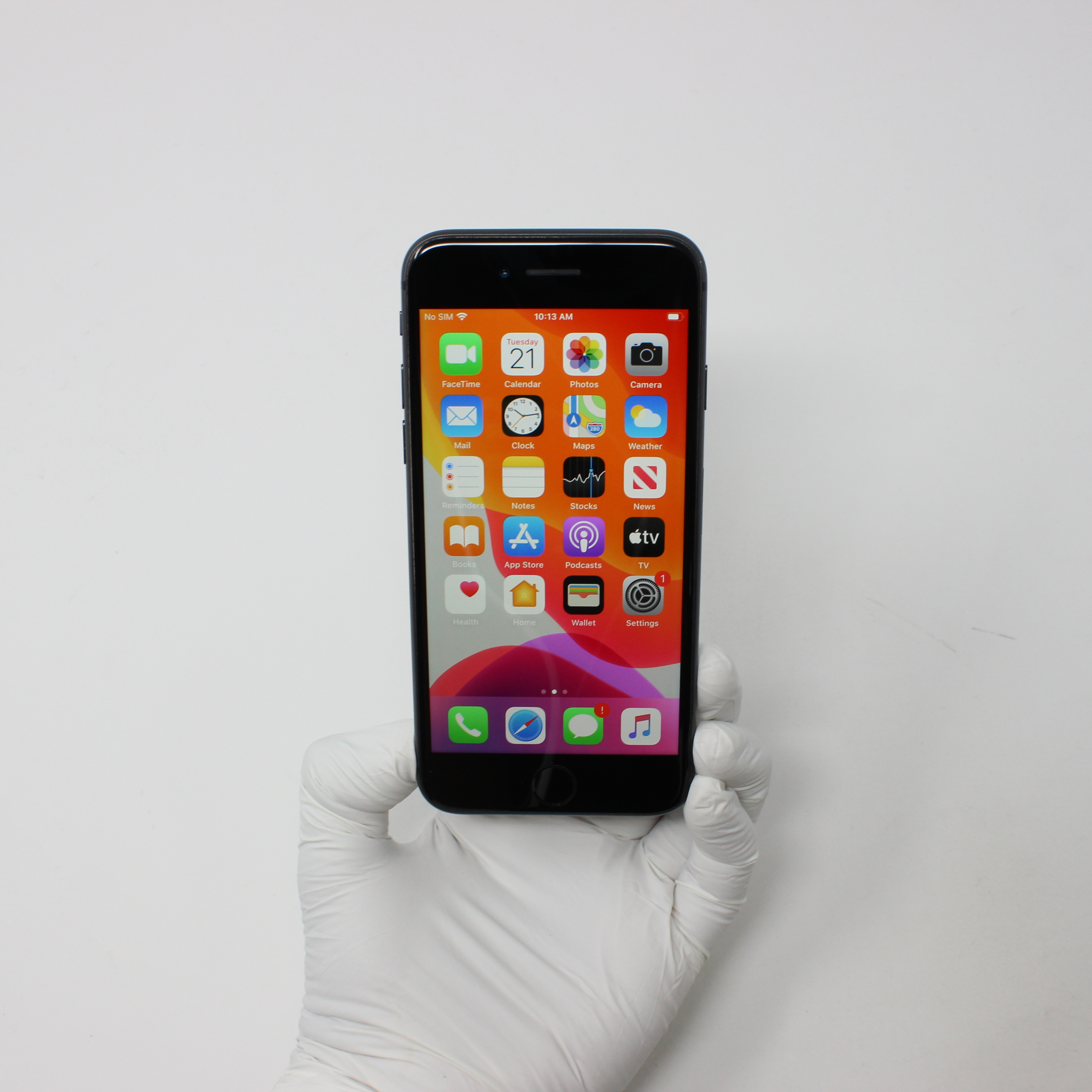 iPhone 8 64GB Space Gray - AT&T front display on | UpTradeit.com