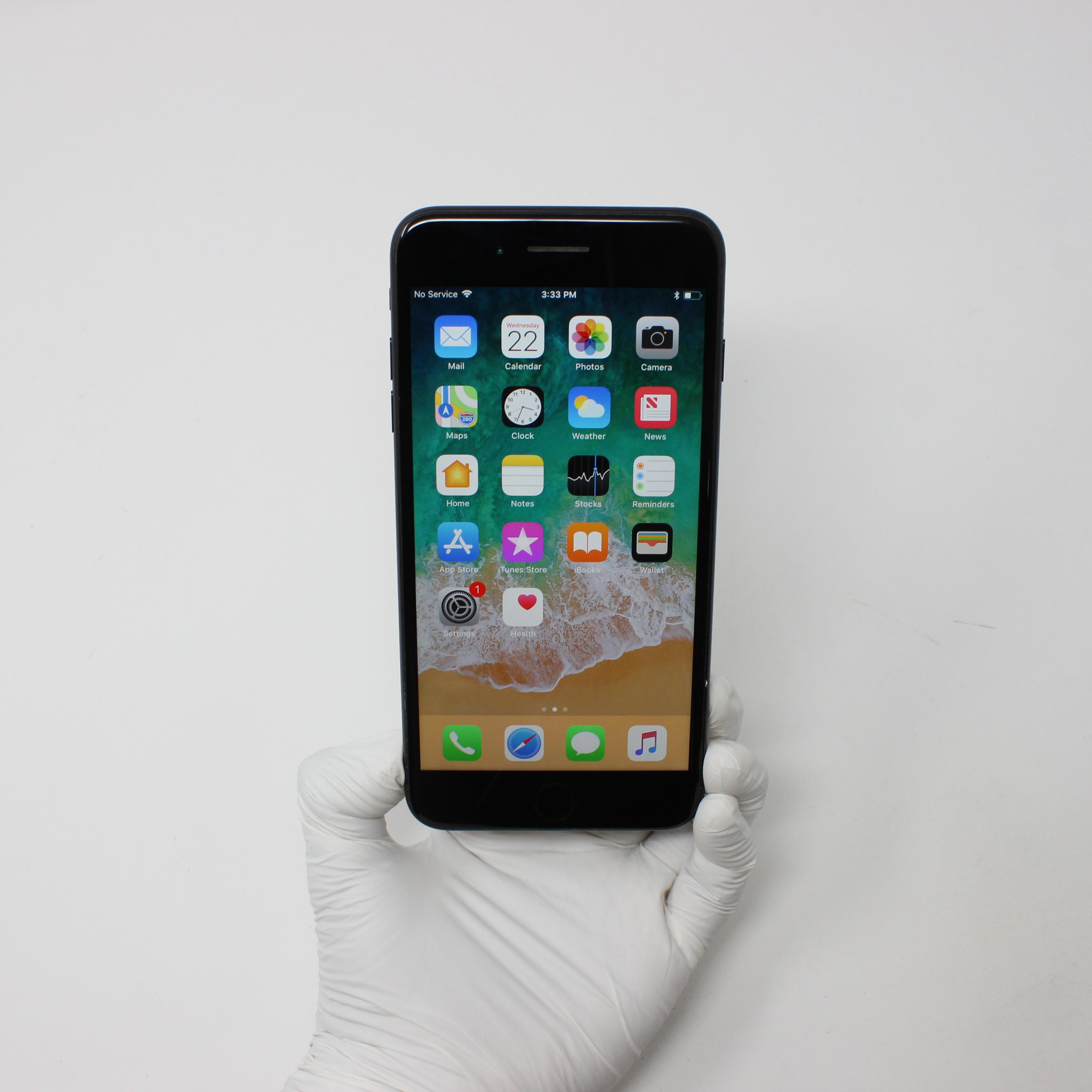 iPhone 7 Plus 32GB Black - AT&T front display on | UpTradeit.com