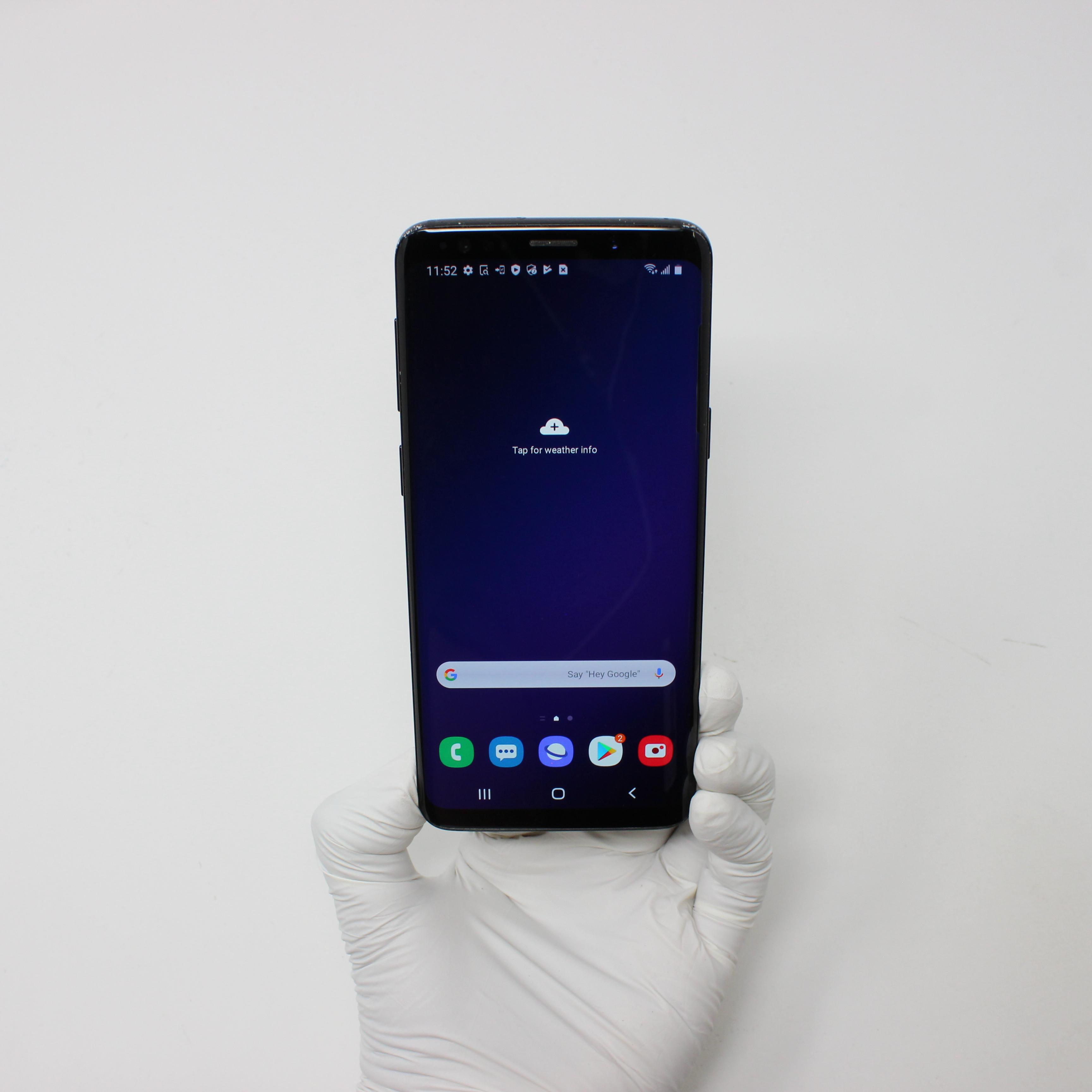 Galaxy S9 64GB Midnight Black - AT&T front display on   UpTradeit.com