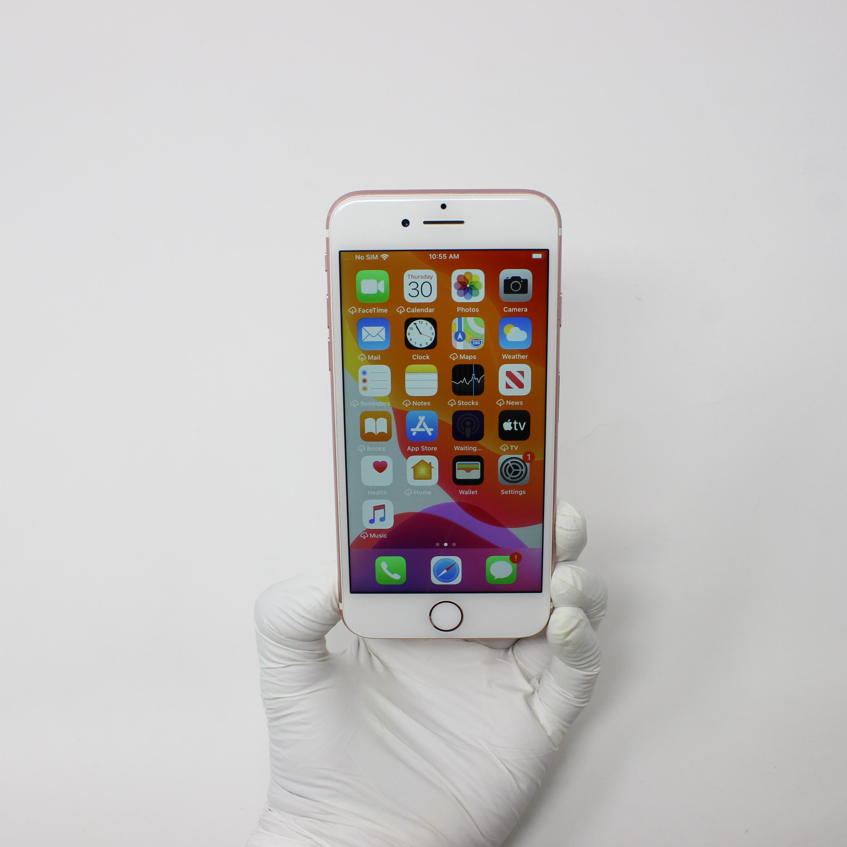 iPhone 7 128GB Rose Gold - Verizon front display on | UpTradeit.com