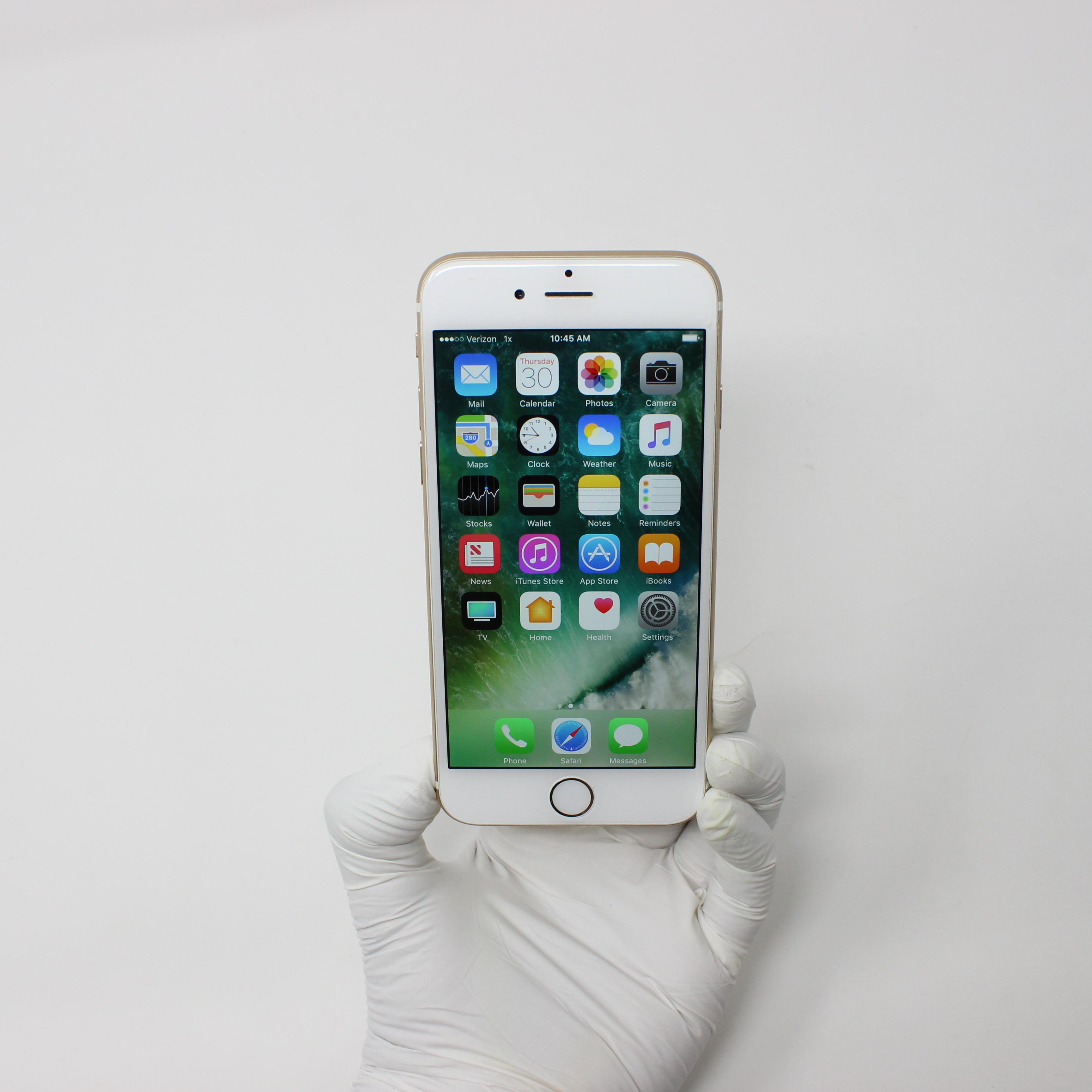 iPhone 6 64GB Gold - Verizon front display on | UpTradeit.com