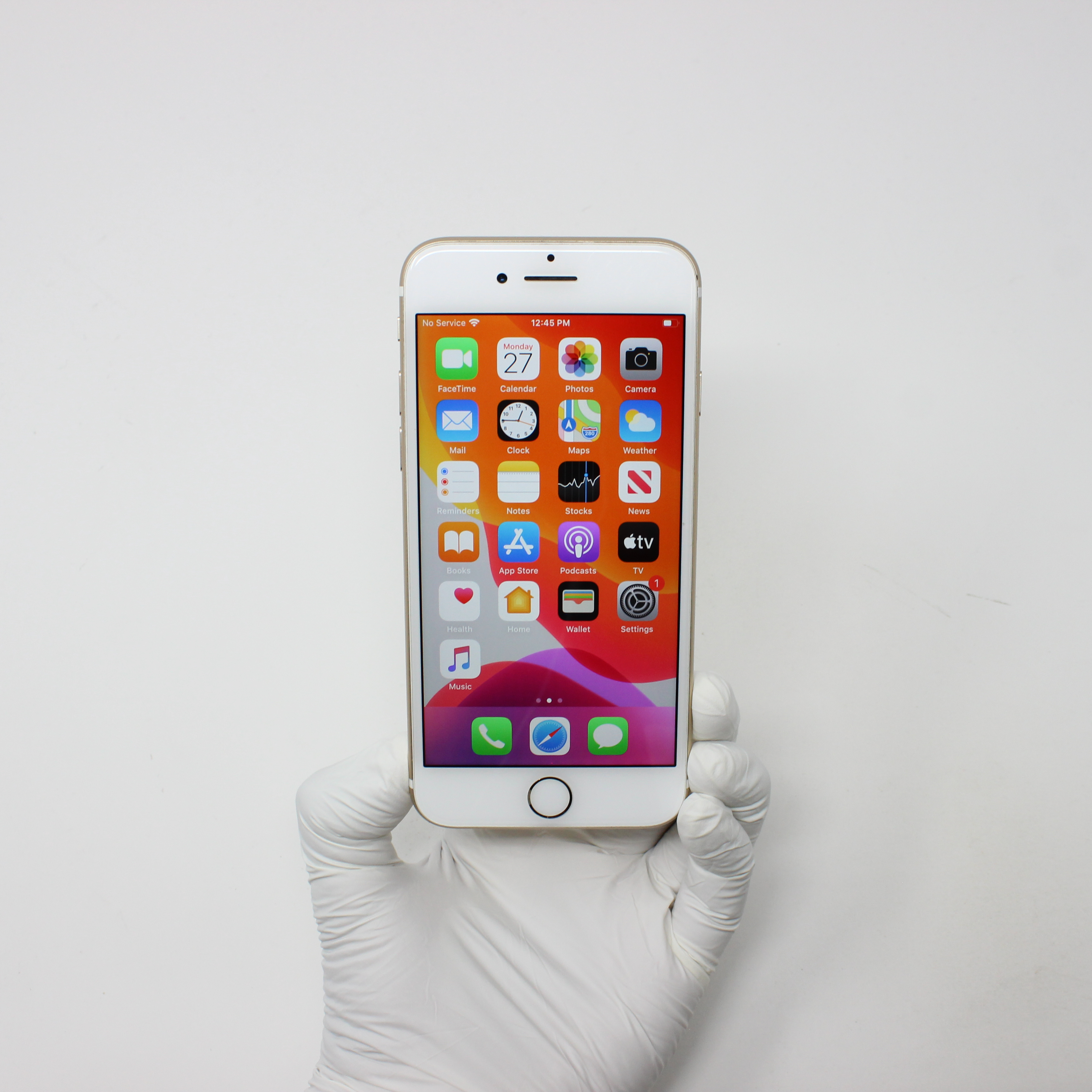 iPhone 7 128GB Gold - AT&T front display on | UpTradeit.com