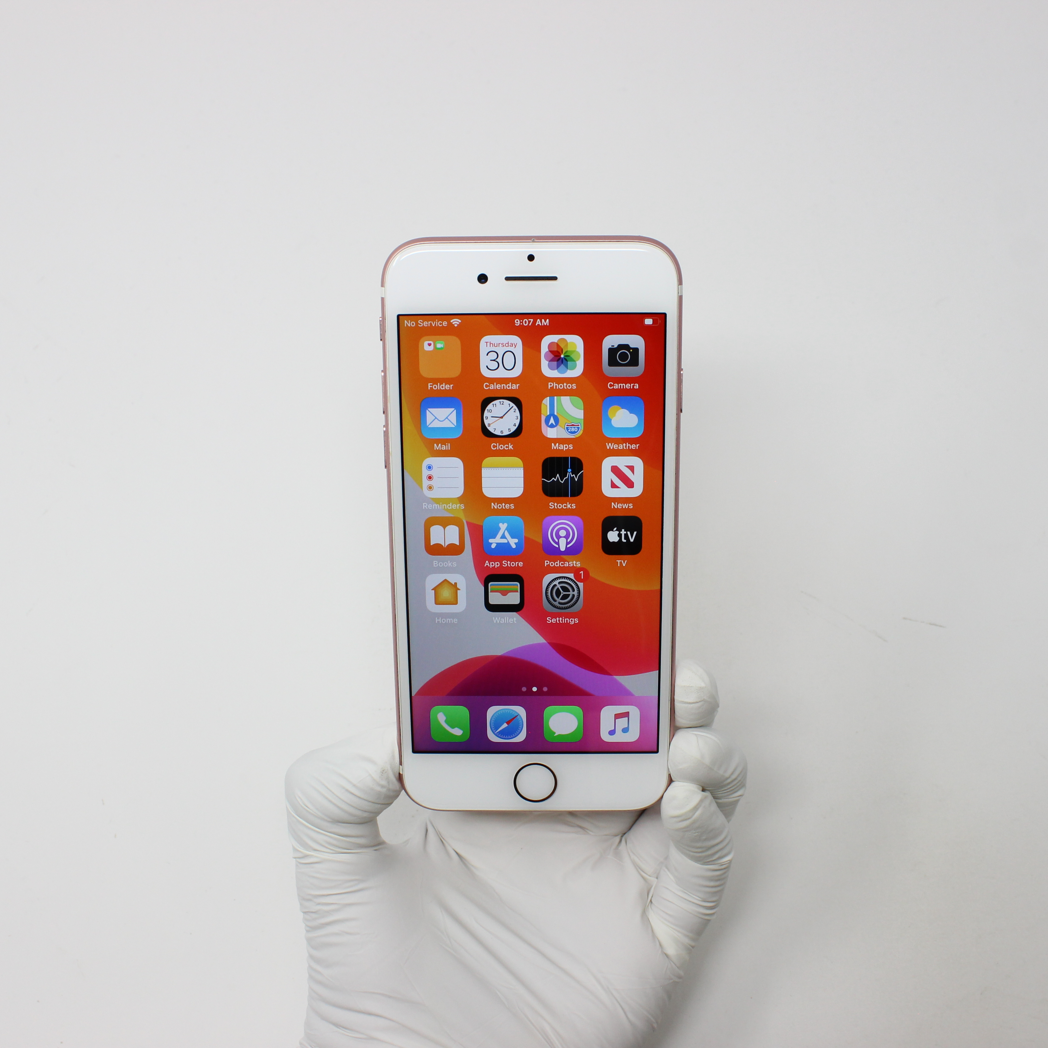 iPhone 7 32GB Rose Gold - AT&T front display on | UpTradeit.com